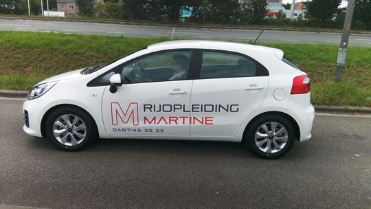Auto rijopleiding Martine